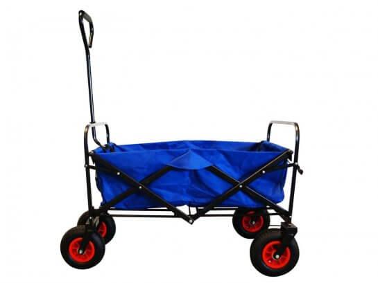 MAXOfit Bollerwagen mit Luftbereifung - Blau