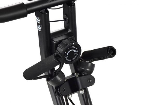 MAXOfit MF-30 X-Bike Fahrrad Heimtrainer mit Trainingsgummis – klappbar