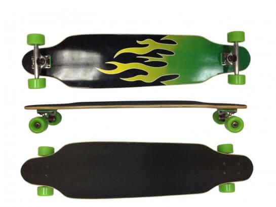 "MAXOfit Longboard ""Green Fire No.13"", 104 cm"