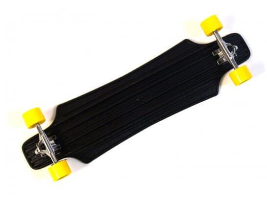 """MAXOfit Kunststoff Longboard """"Weiß XP 5.0"""", 92 cm"""